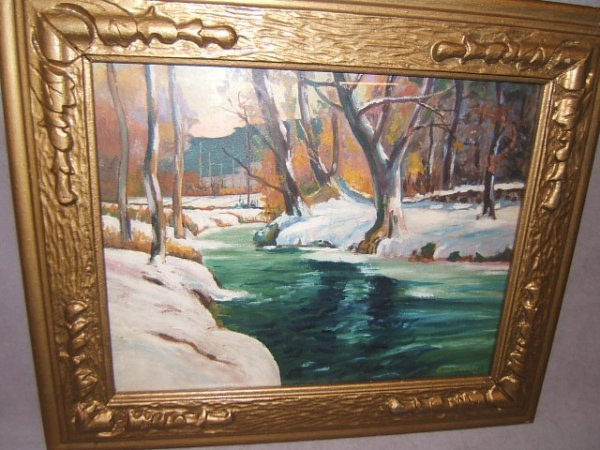 5062: FRAMED SIGNED PAINTING UNDER GLASS