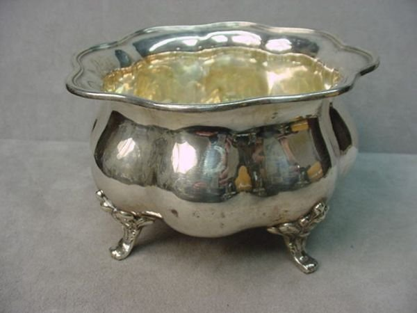 5072: HALLMARKED .835 SILVER FOOTED BOWL