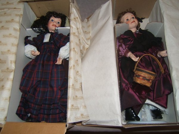 7005: 5 ASHTON DRAKE LITTLE WOMEN DOLLS IN BOXES