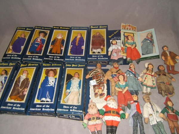 7007: AMERICAN REVOLUTION DOLLS AND CLOTH DOLLS, ETC
