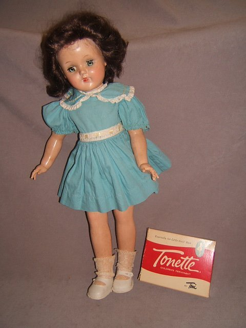 """7016: 21"""" IDEAL TONI DOLL WITH CURLERS"""