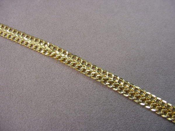 8004: 1 7 1/4 INCH 14K GOLD BRACELET- 5/16 INCH WIDE