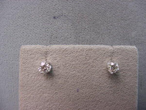 8009: 14K WHITE GOLD .47 CT TW DIAMOND EARRINGS