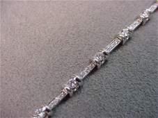 8150: 18K WHITE GOLD DIAMOND BRACELET -1.00 CT TW