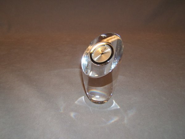9058: WATERFORD CRYSTAL CLOCK WITH BOX
