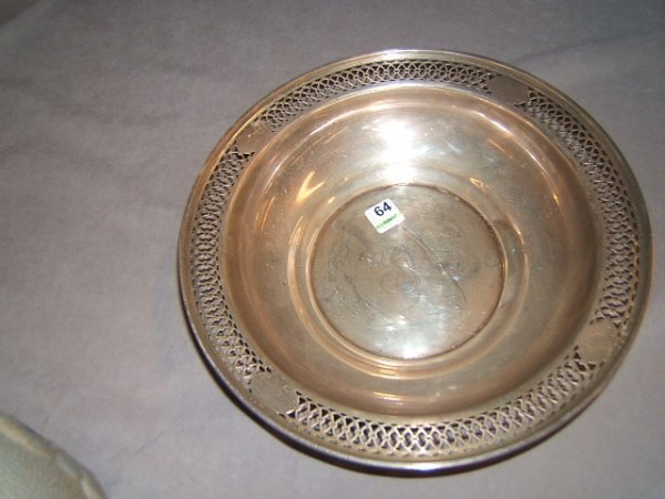 2064: RETICULATED STERLING SILVER BOWL