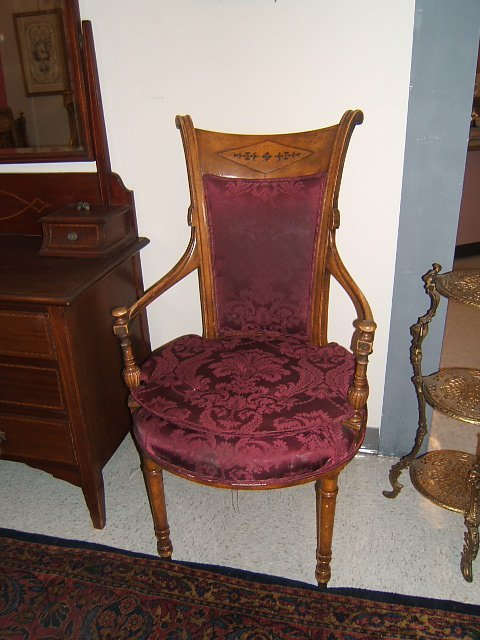2444: 6 UPHOLSTERED DINING ROOM CHAIRS