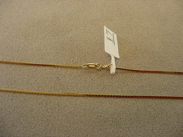 7017: 1 18 1/4 INCH 14K GOLD BOX LINK CHAIN