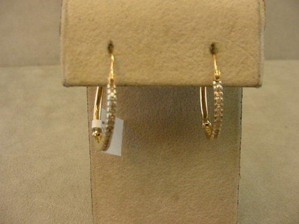 2020: 10K GOLD DIAMOND HOOP PIECED EARRNIGS