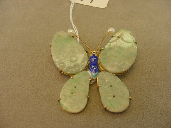 3071: GOLD OVER STERLING BUTTERFLY PIN