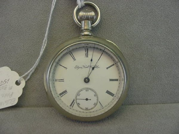 4001: ELGIN NAT'L WATCH CO. OPENFACE POCKETWATCH (15J,