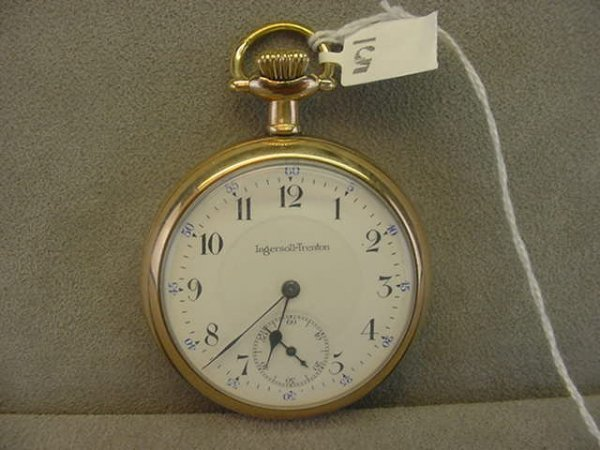 4005: 15 JEWEL INGERSOLL-TRENTON OPENFACE POCKETWATCH I