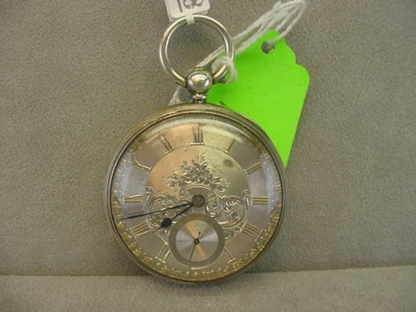 4008: OPENFACE KEYWIND POCKETWATCH IN HALLMARKED SILVER