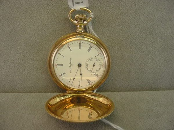 4011: 15J ELGIN NAT'L WATCH CO. HUNTERS CASE POCKETWATC