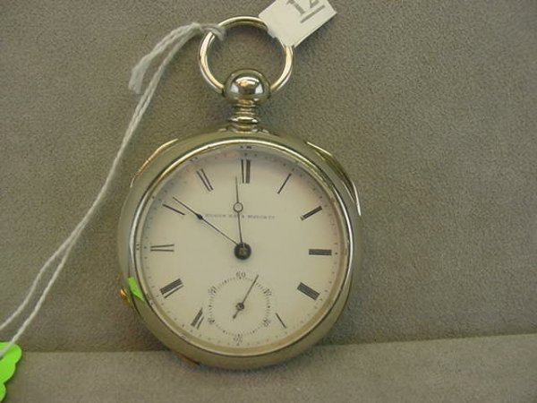 4012: 15J ELGIN NAT'L WATCH CO. OPEN FACE KEYWIND POCKE