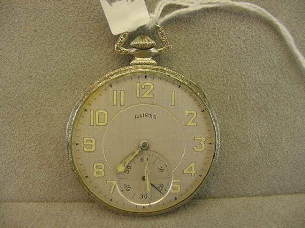 4014: 17J ILLINOIS WATCH CO. AUTOCRAT OPENFACE POCKETWA