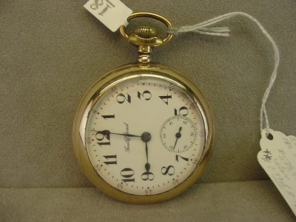 4018: 17J SOUTHBEND OPENFACE POCKETWATCH IN GOLD FILLED
