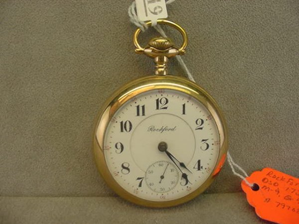 4019: 17J ROCKFORD WATCH CO. OPEN FACE POCKETWATCH (2 T