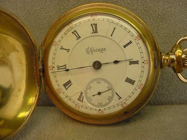 4020: 15J CHICAGO WATCH CO. HUNTERS CASE POCKETWATCH IN