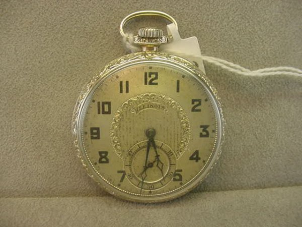 4022: 21J ILLINOIS WATCH CO. MARINE SPECIAL OPENFACE PO