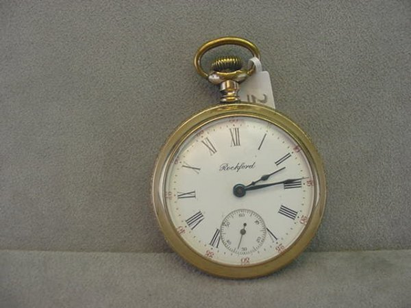 4023: 17J ROCKFORD WATCH CO. OPEN FACE POCKETWATCH IN E