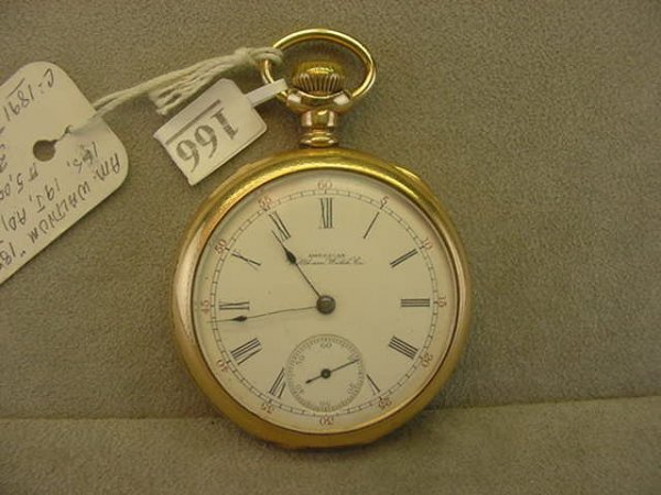 4166: 19J AMERICAN WALTHAM WATCH CO. OPENFACE POCKETWAT