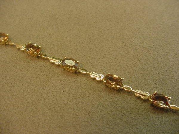5012: 14K GOLD COLORED STONE BRACELET