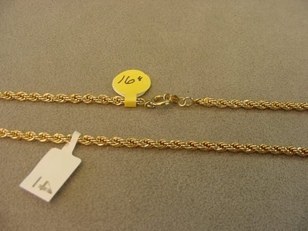 8004: 1 16 INCH GOLD FILLED CHAIN
