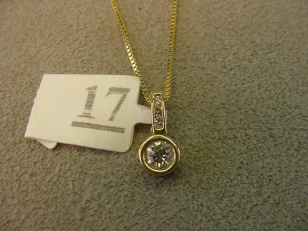 8017: 14K GOLD .25 CT DIAMOND PENDANT