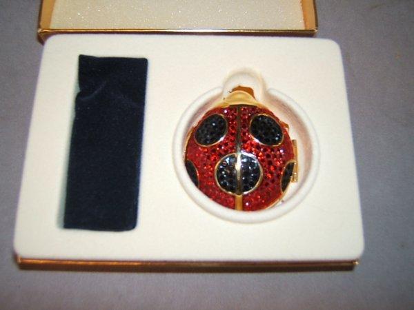 2003: ESTEE LAUDER BEADED LADYBUG POWDER BOX