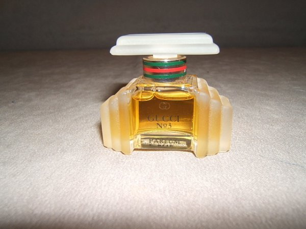 2010: GUCCI NO. 3 PERFUME IN BOTTLE AND CASE