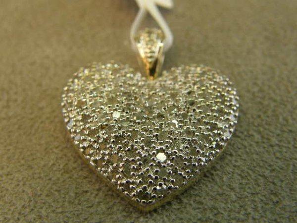 4002: 10K GOLD DIAMOND HEART PENDANT