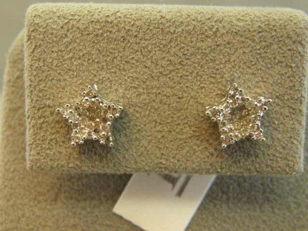 4014: 14K WHITE GOLD DIAMOND EARRINGS