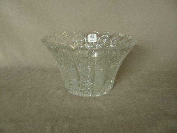 5054: CUT GLASS BOWL