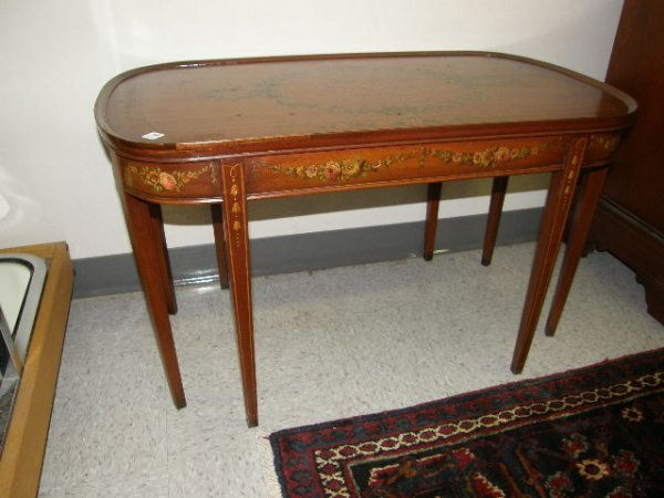 5056: DECORATED AND INLAID COFFEE TABLE