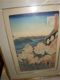 5134: FRAMED JAPANESE WOODBLOCK PRINT