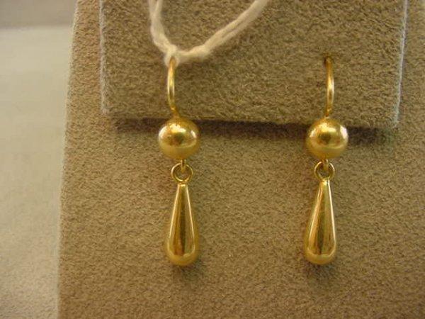 5071: PAIR 18K GOLD PIERCED EARRINGS