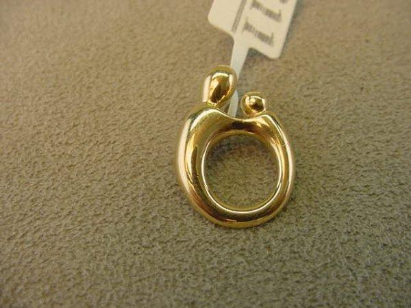 Vintage 14K Gold Diamond Kaynar Pendant