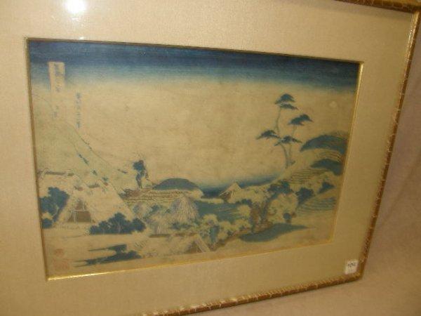7104: FRAMED JAPANESE WOODBLOCK PRINT