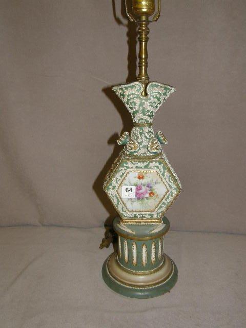 7064: HANDPAINTED LAMP