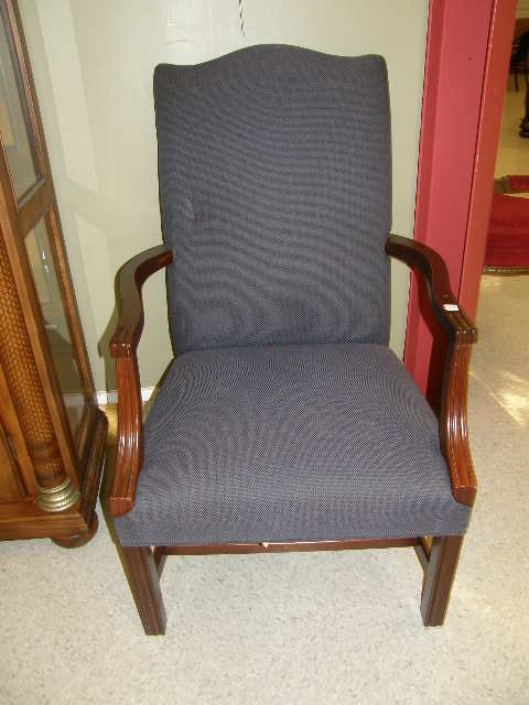 7059: 2 MATCHING UPHOLSTERED ARM CHAIRS