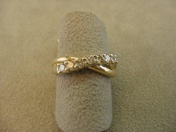 8012: 14K GOLD DIAMOND RING -SIZE 7 1/2