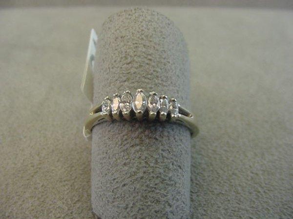 8024: 14K WHITE GOLD MARQUISE DIAMOND RING