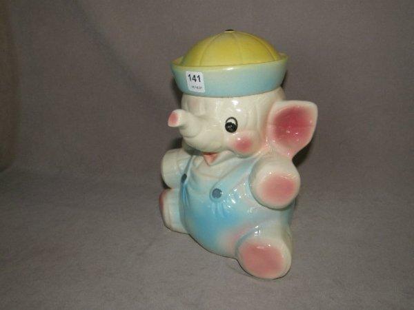 2141: ELEPHANT MOTIF COOKIE JAR