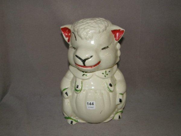 2144: LAMP MOTIF COOKIE JAR