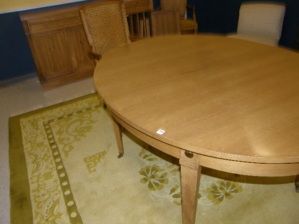 2154: DINING ROOM TABLE, PADS AND 10 CHAIRS