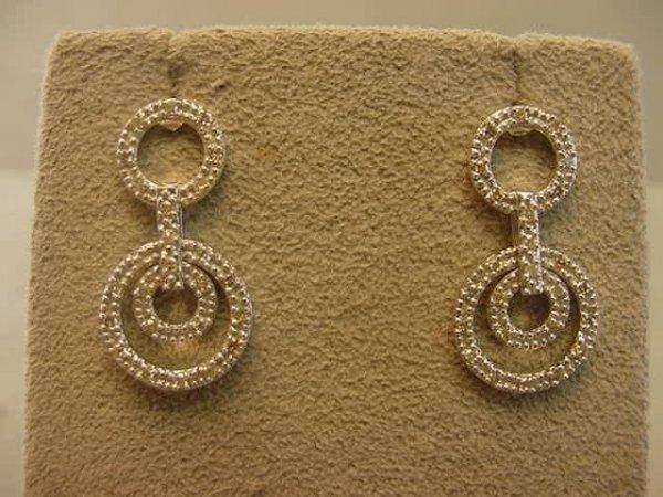 3003: 10K WHITE GOLD DIAMOND EARRINGS