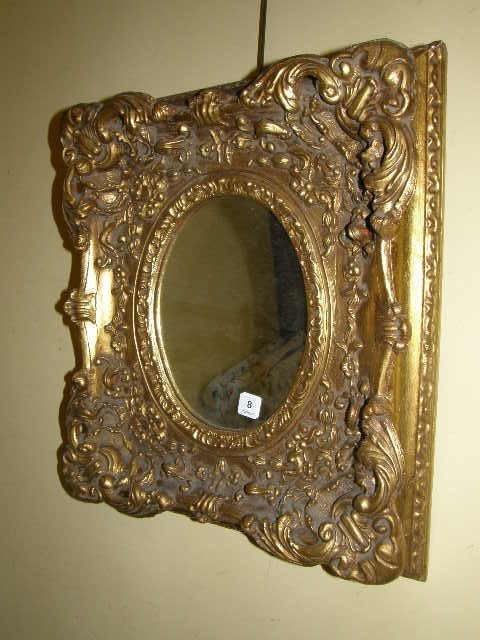 8008: OVAL MIRROR IN ORNATE FRAME