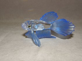 SWAROVSKI CRYSTAL BETA FISH WITH BOX