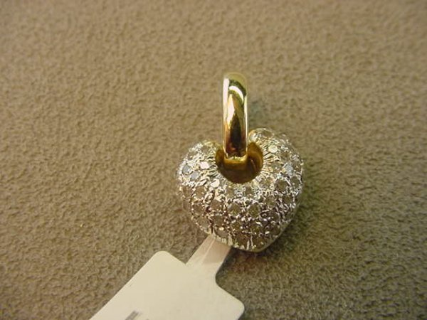 1022: 14K GOLD DIAMOND PENDANT
